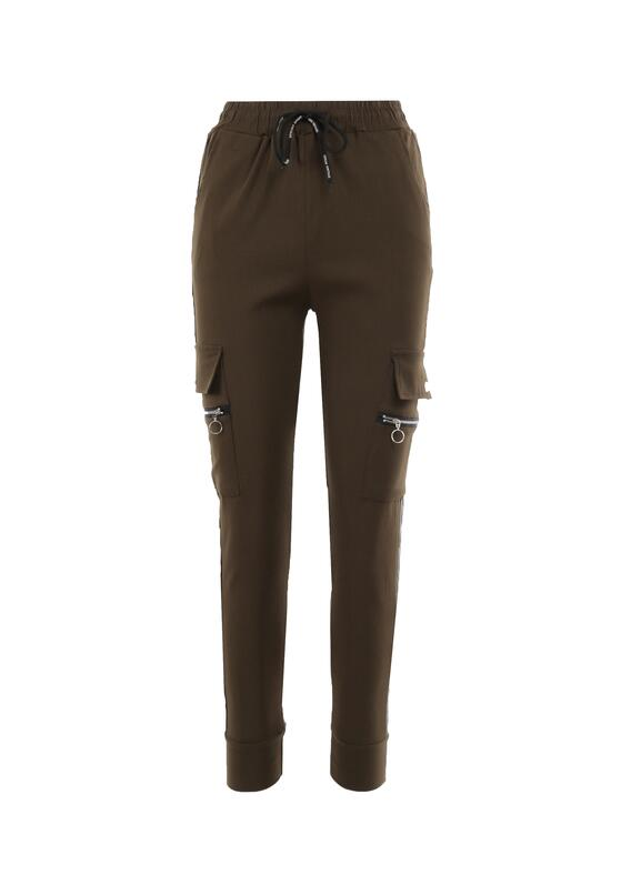 Ciemnozielone Spodnie Welewen