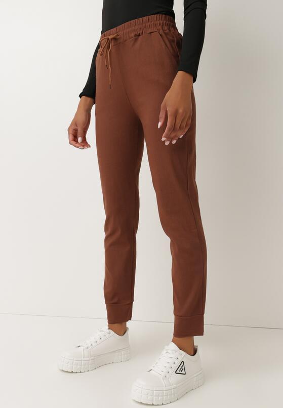 Brązowe Spodnie Dresowe Jenefer