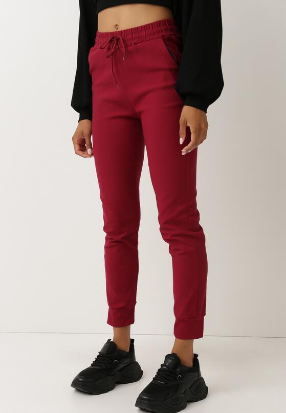 Bordowe Spodnie Dresowe Jenefer