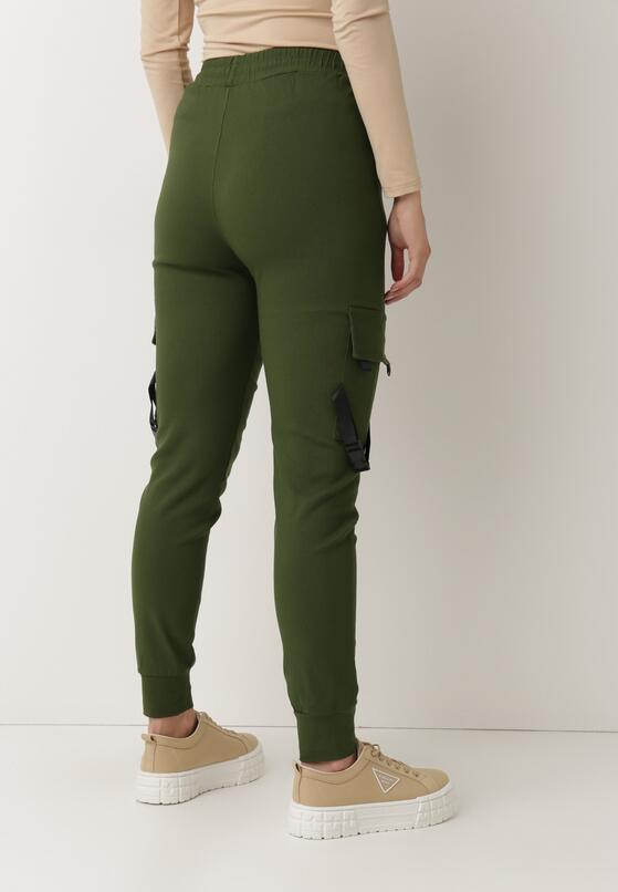 Ciemnozielone Spodnie Bewetel