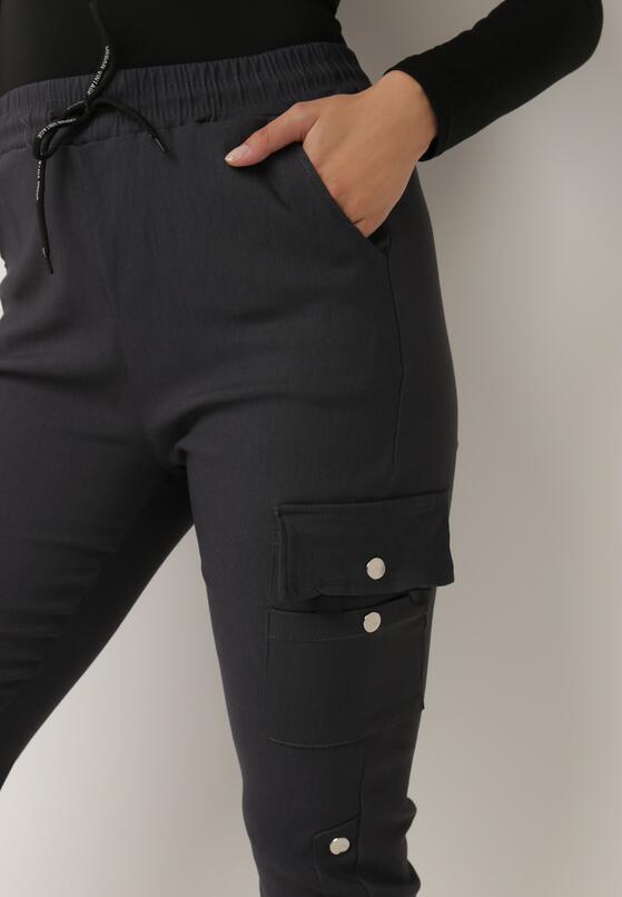 Szare Spodnie Dresowe Demeguetel