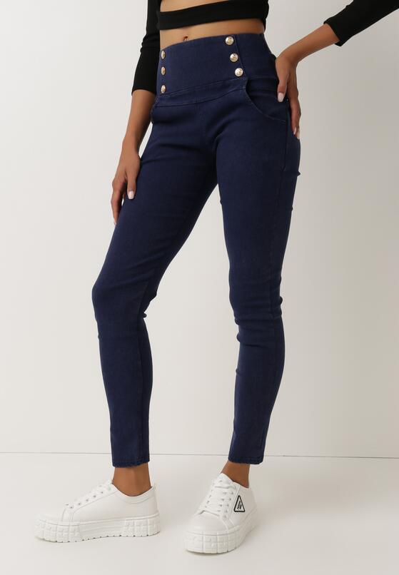 Granatowe Spodnie Alcidoe