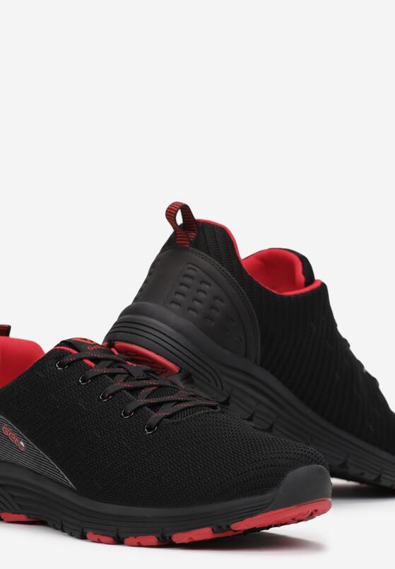 Czarno-Czerwone Buty Sportowe Rehael