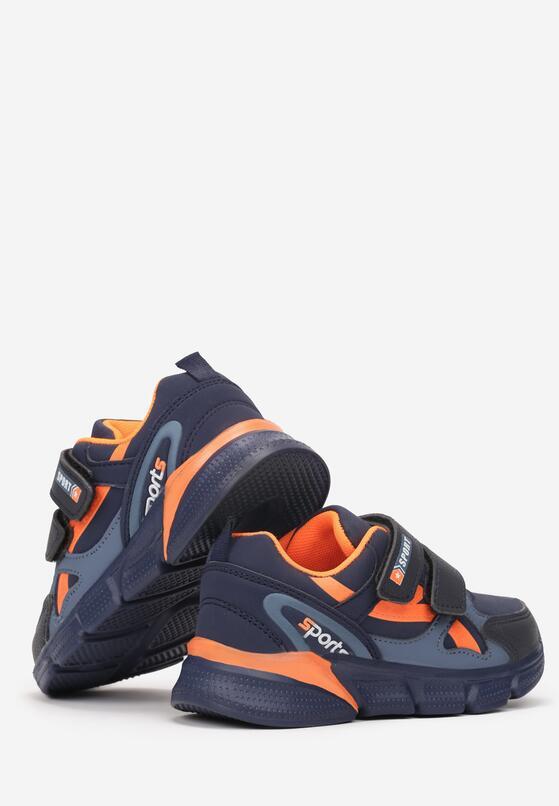 Granatowo-Pomarańczowe Buty Sportowe Ione
