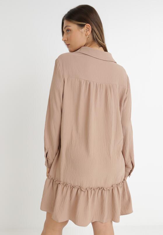 Ciemnobeżowa Sukienka Apios