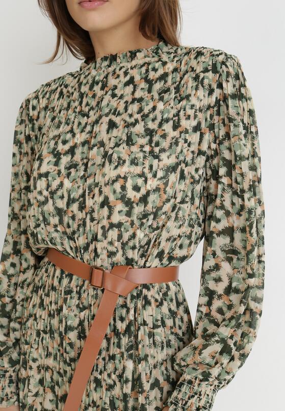 Zielona Sukienka Z Paskiem Canyle