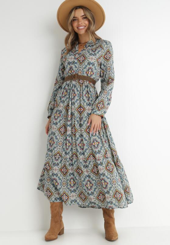 Niebieska Sukienka Deparia