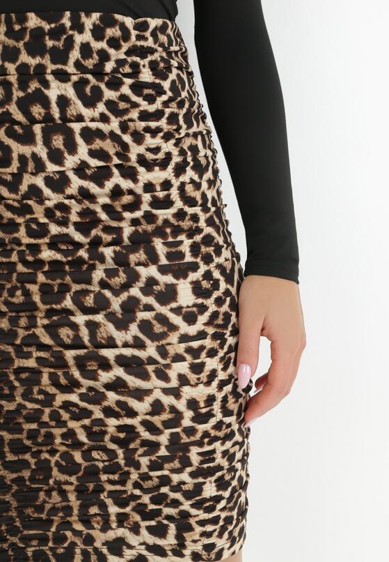 Czarno-Beżowa Spódnica Nemobe