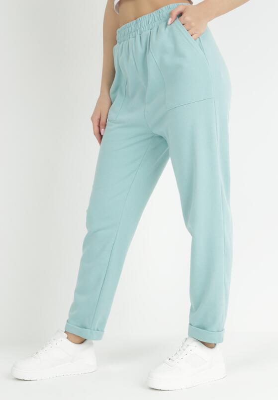 Jasnoniebieskie Spodnie Dresowe Lyvyre