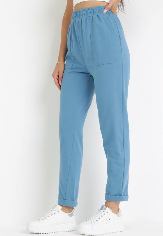 Niebieskie Spodnie Dresowe Lyvyre