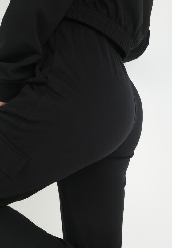 Czarne Spodnie Dresowe Xirys