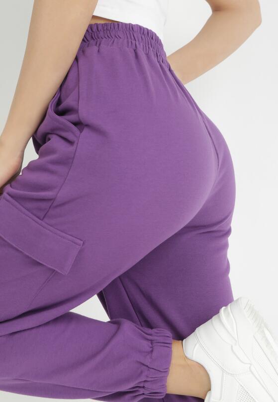 Fioletowe Spodnie Dresowe Xirys