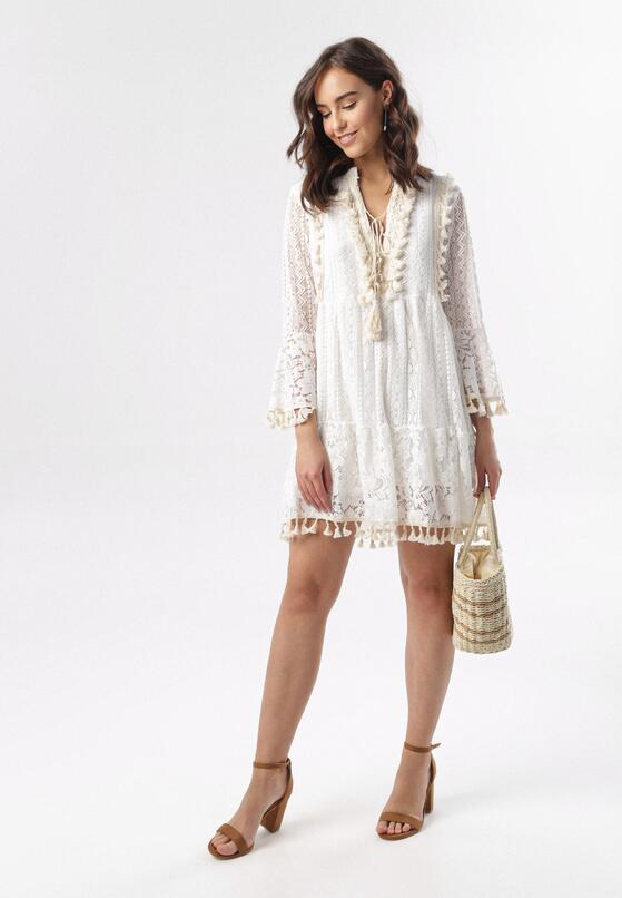 Biała Sukienka Miralyn