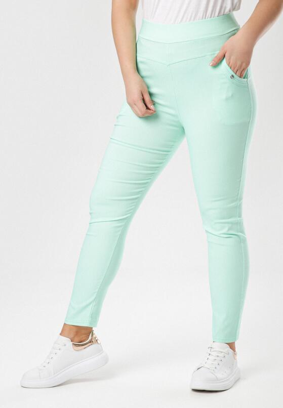 Miętowe Spodnie Alulure