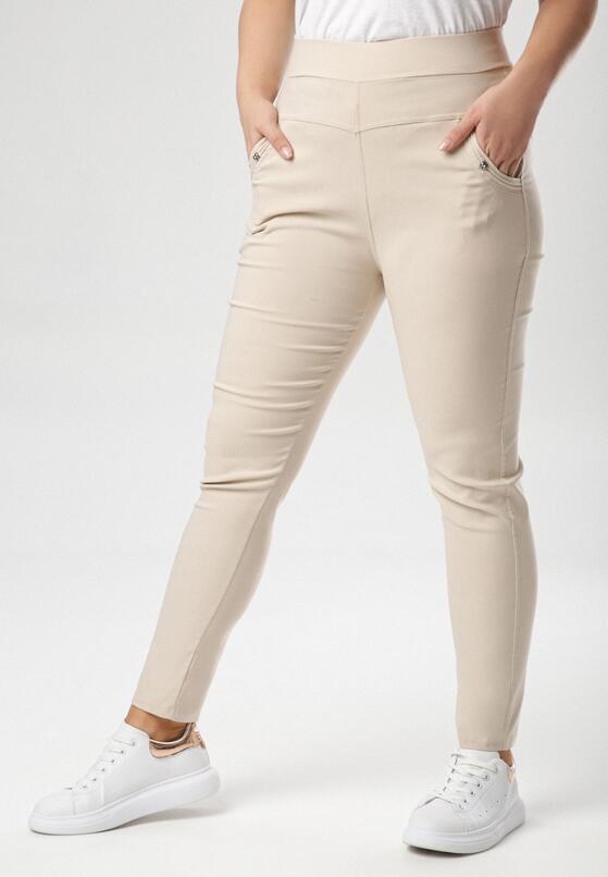 Beżowe Spodnie Alulure