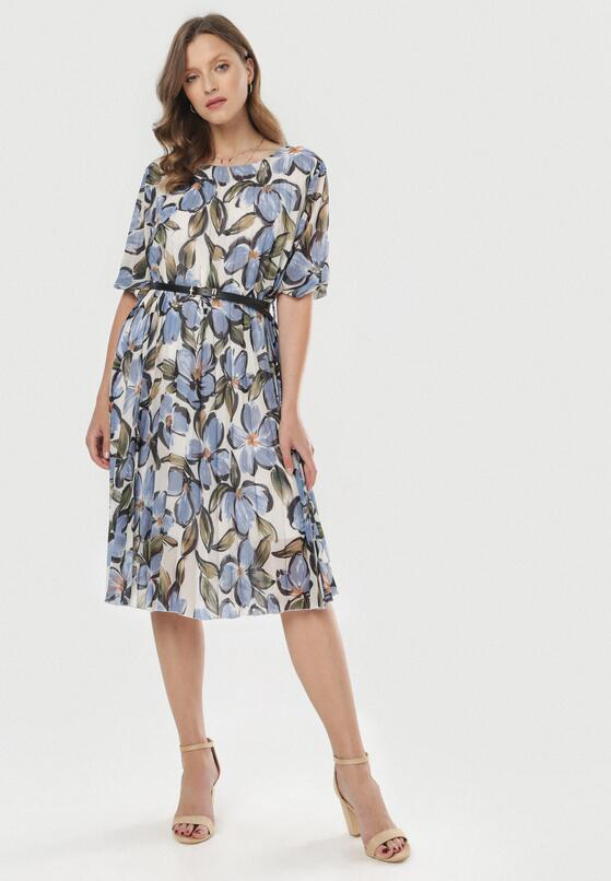 Niebieska Sukienka Oripheu