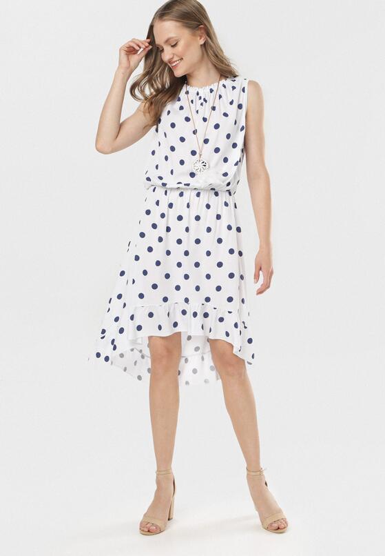 Biało-Niebieska Sukienka Adrianah