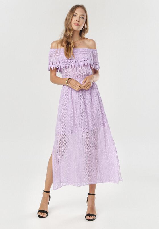 Jasnofioletowa Sukienka Lamilia