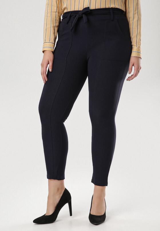 Granatowe Spodnie Undilis