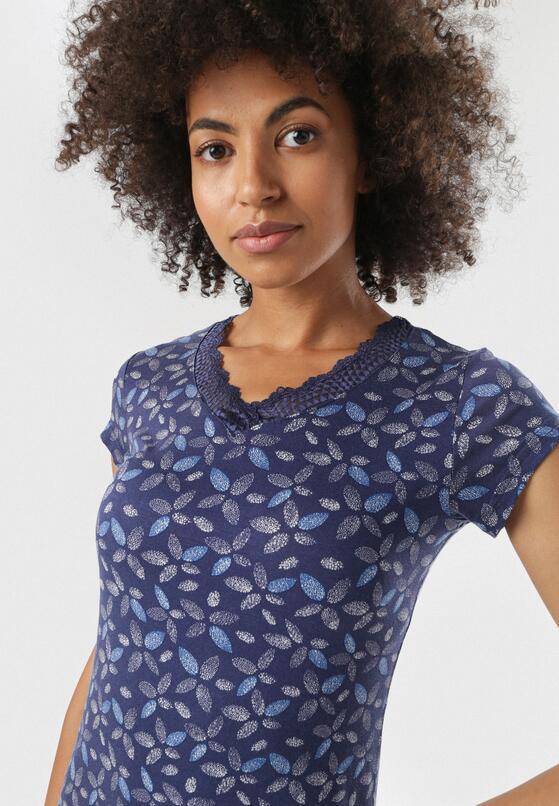 Niebiesko-Biała Koszula Nocna Iphalis