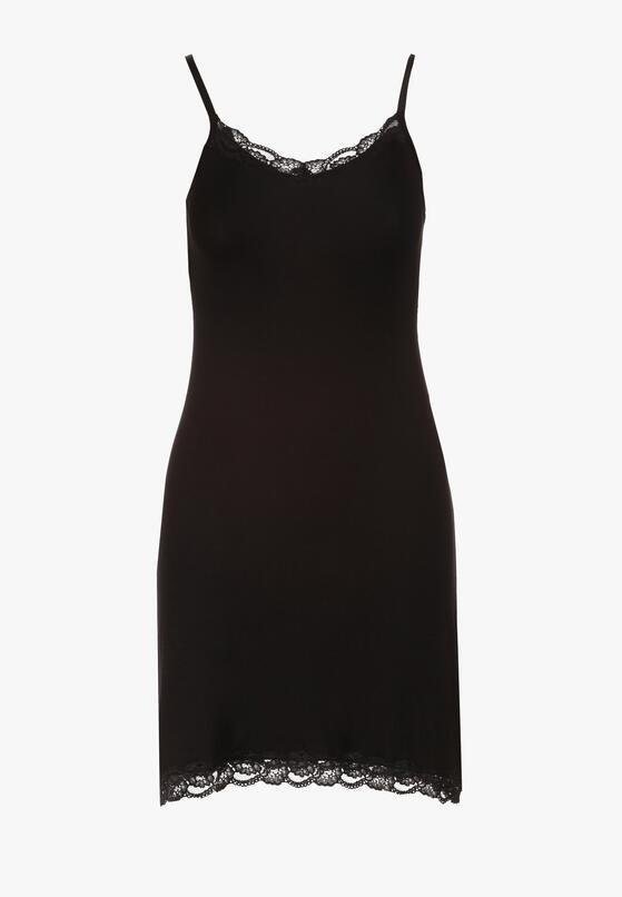 Czarna Koszula Nocna Aniriope