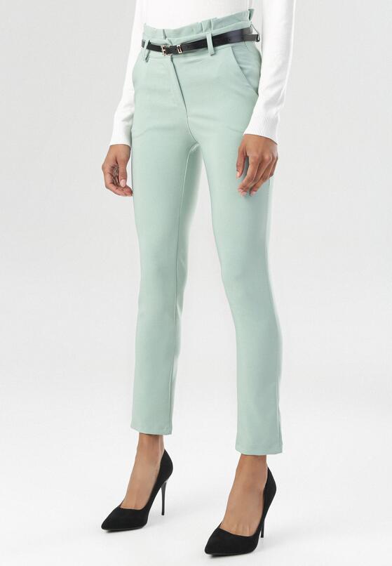 Miętowe Spodnie Thelthine