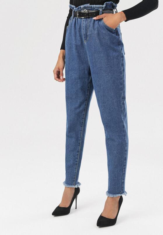 Niebieskie Spodnie Paper Bag Periris