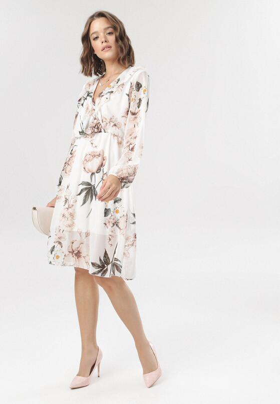 Biała Sukienka Cladella