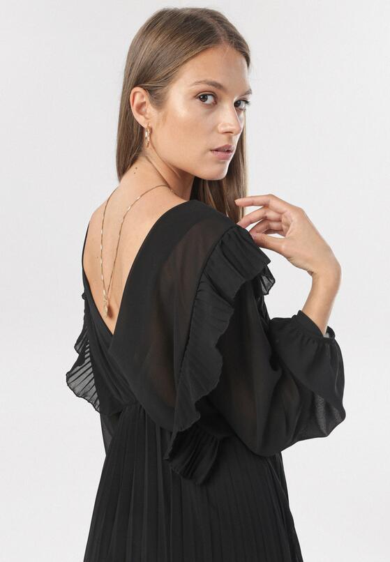 Czarna Sukienka Jaenlenne