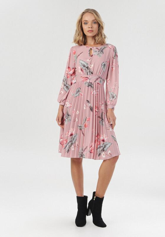 Różowa Sukienka Ciradyl