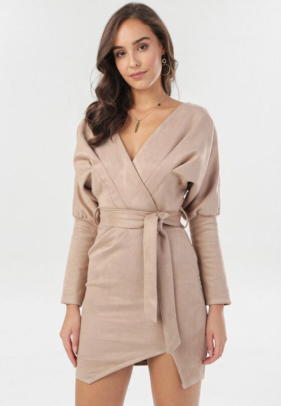 Beżowa Sukienka Ryrvienne