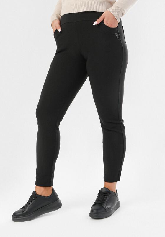 Czarne Spodnie Dreneth