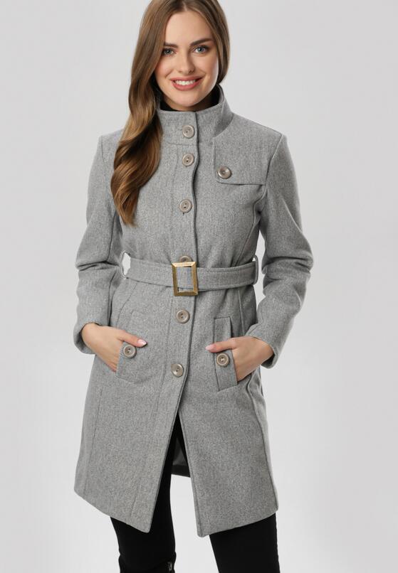 Ciemnoszary Płaszcz Marymene