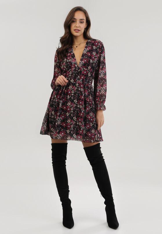 Czarno-Czerwona Sukienka Pinewood
