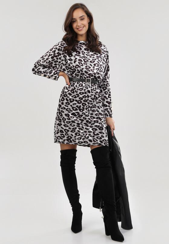 Czarno-Beżowa Sukienka Windcaller