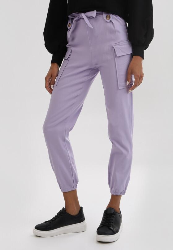 Jasnofioletowe Spodnie Uhrryss