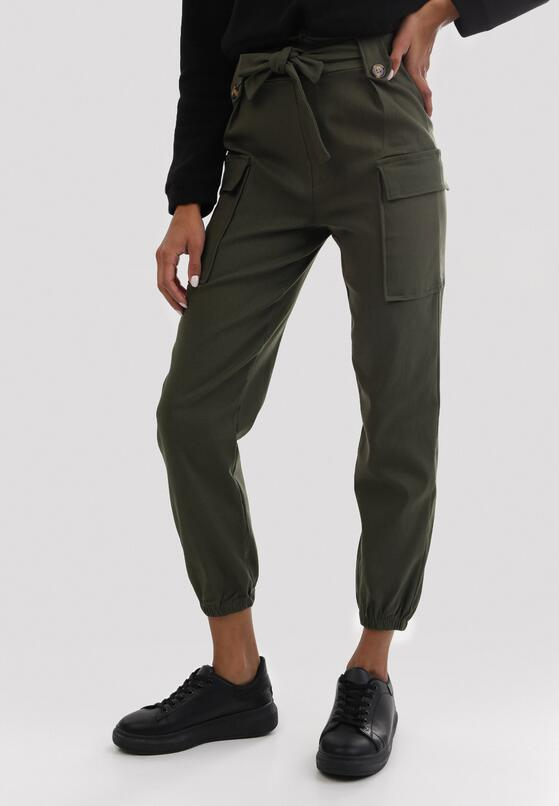 Ciemnozielone Spodnie Uhrryss