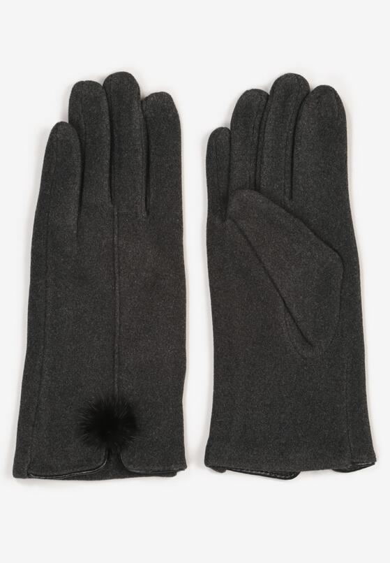 Ciemnoszare Rękawiczki Norkaen