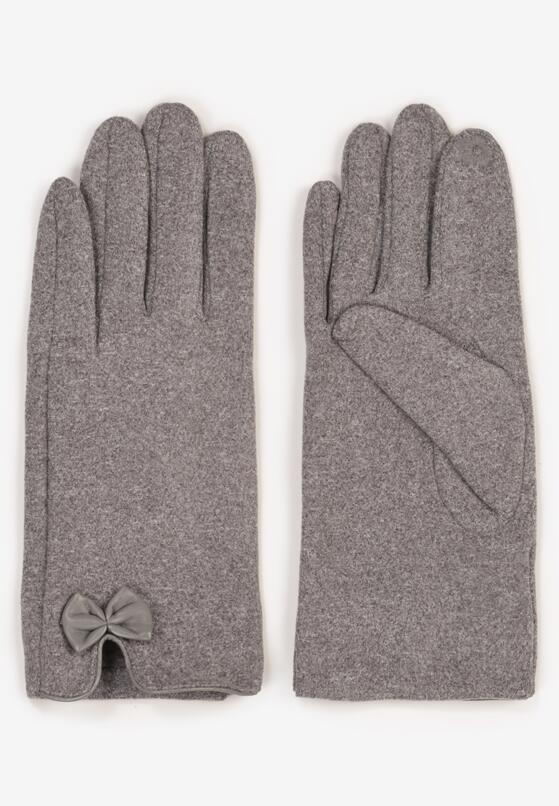 Szare Rękawiczki Madehana