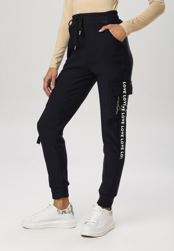 Granatowe Spodnie Nesaphise