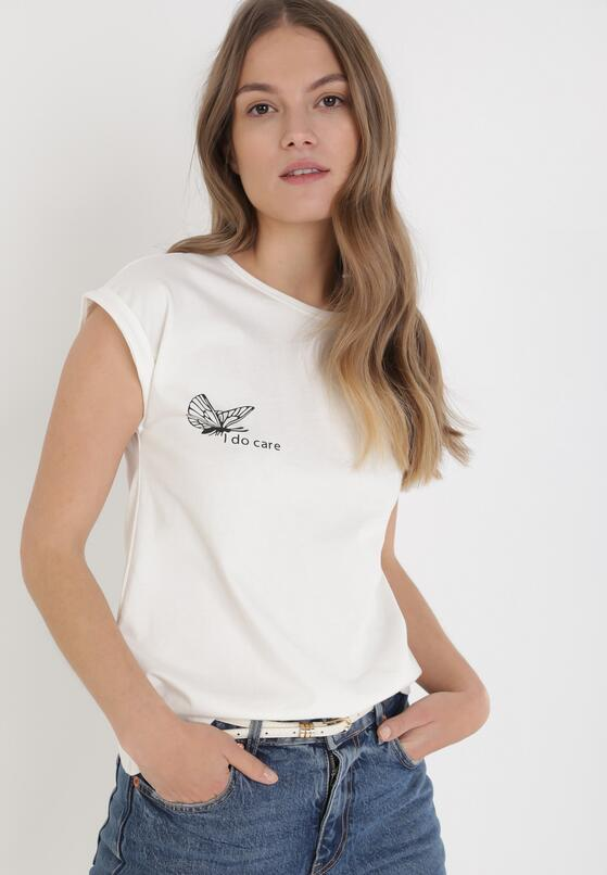 Beżowy T-shirt Thanise