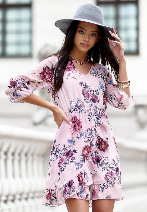 Różowa Sukienka Rhethephine