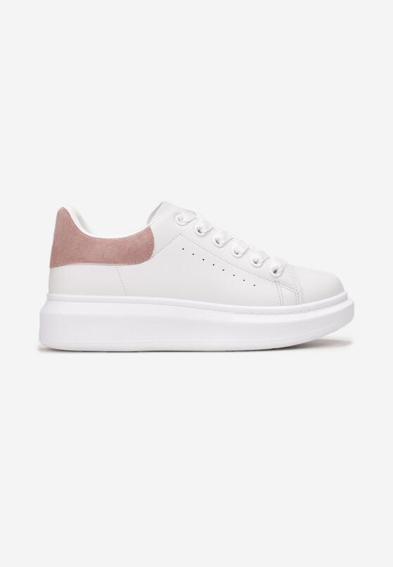 Biało-Różowe Sneakersy Leuconome