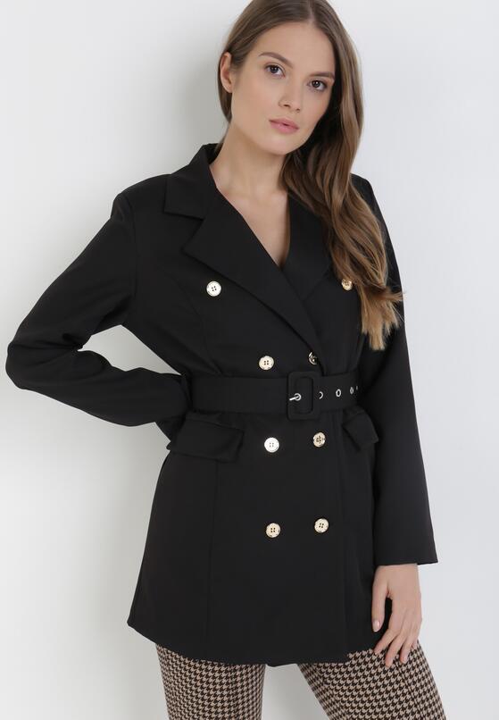 Czarny Płaszcz Ephelane