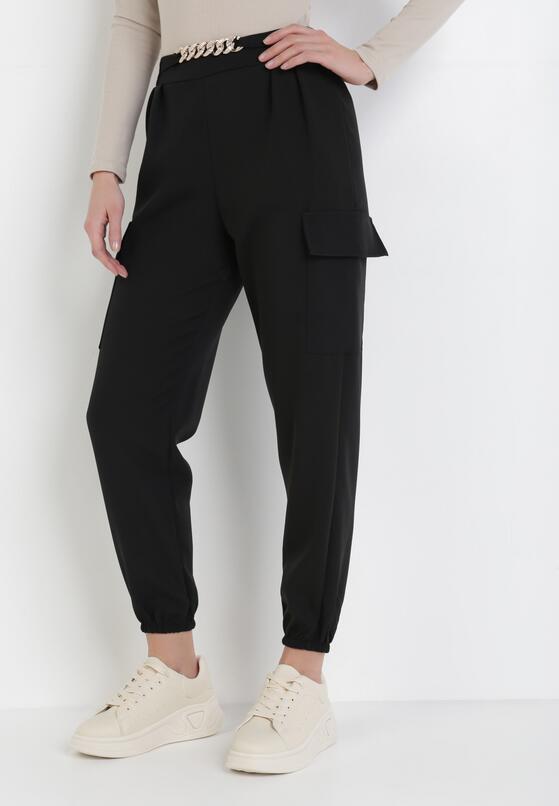 Czarne Spodnie Coraena