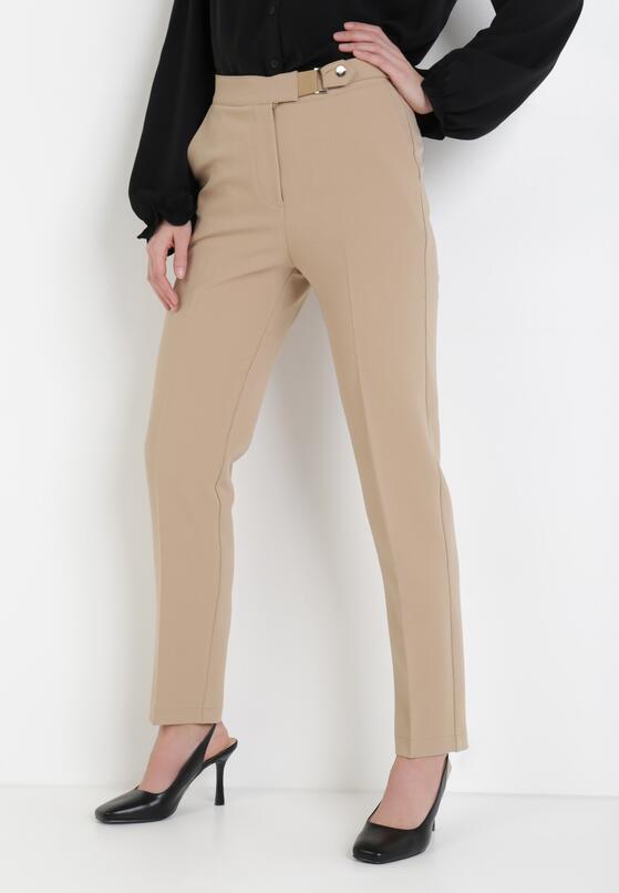Beżowe Spodnie Phepeia