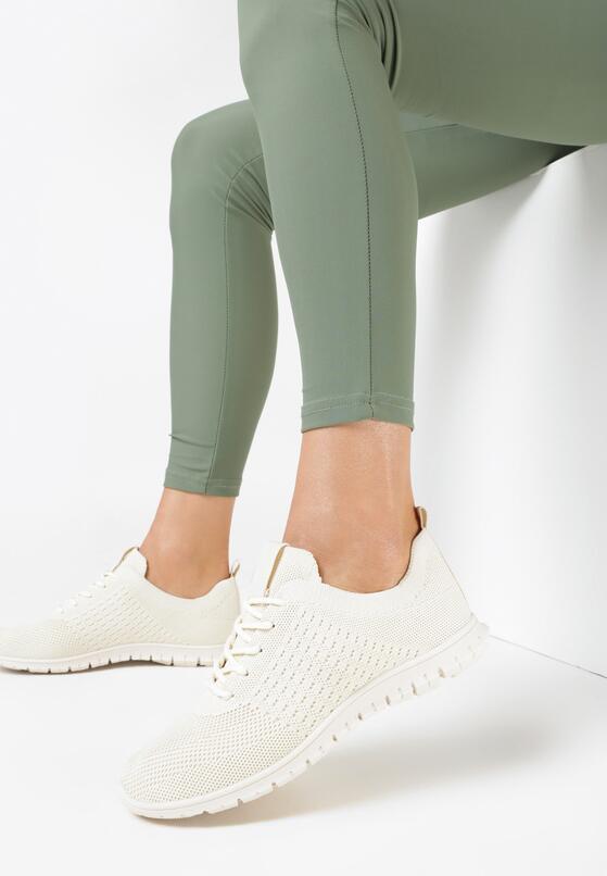 Beżowe Buty Sportowe Fharlynx