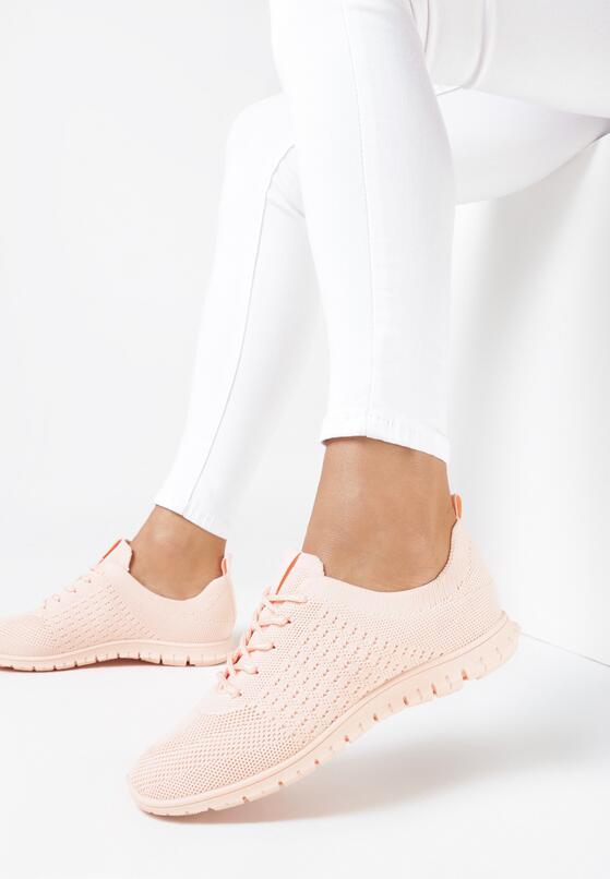 Jasnoróżowe Buty Sportowe Fharlynx