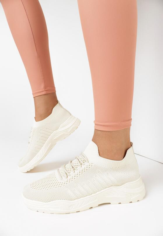 Beżowe Buty Sportowe Thespeila