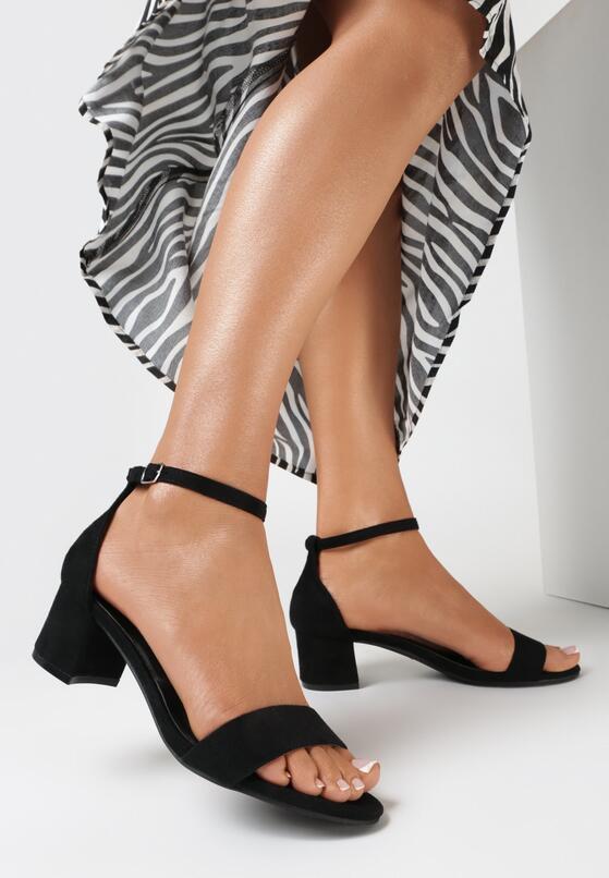 Czarne Sandały Ornell